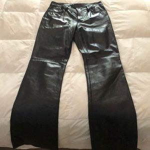 Beautiful  black REAL 100% leather pants.